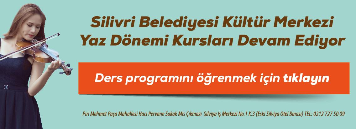 Kültür Merkezi Yaz Ders Programı