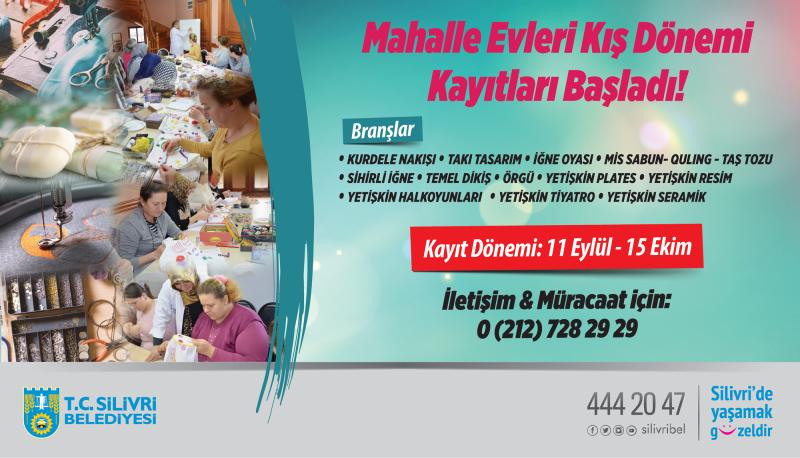 MAHALLE EVİ KAYITLARI BAŞLADI