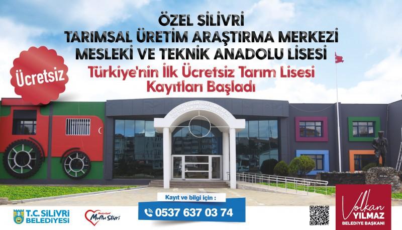 ÜCRETSİZ TARIM LİSESİ KAYITLARINA BAŞLADI