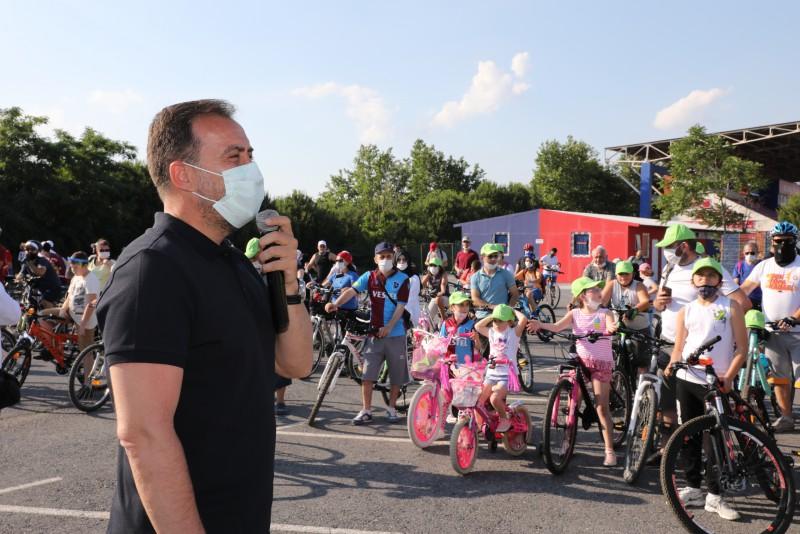 """BAŞKAN YILMAZ: """"25 KM'LİK BİSİKLET PARKURU PROJELENDİRDİK"""""""